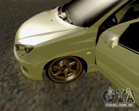 Peugeot 206 Street Racer Tuning para GTA San Andreas vista interior