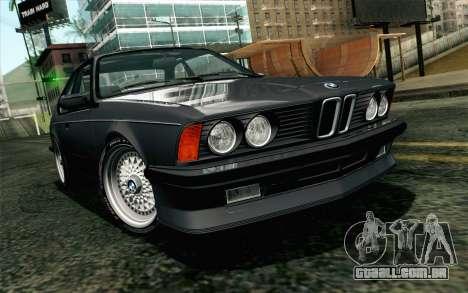 BMW M635CSI E24 1986 V1.0 EU Plate para GTA San Andreas