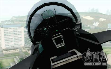 EuroFighter Typhoon 2000 Black Hawk para GTA San Andreas vista traseira