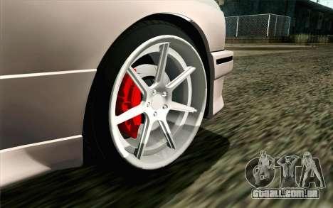 BMW M3 E30 2015 para GTA San Andreas traseira esquerda vista