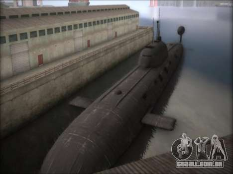 O NPS projeto 941 Akula para GTA San Andreas segunda tela
