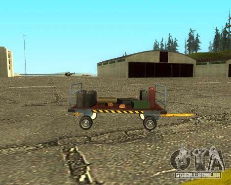 New Bagbox B para GTA San Andreas vista interior