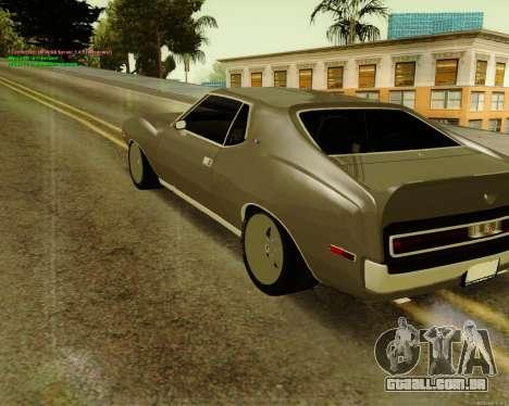 AMC AMX Brutol para GTA San Andreas esquerda vista