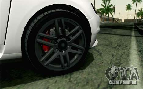 GTA 5 Karin Kuruma v2 Armored para GTA San Andreas traseira esquerda vista