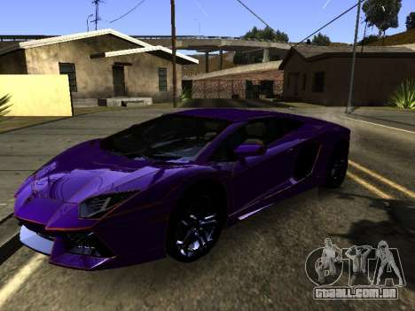 Lamborghini Aventador Tron para vista lateral GTA San Andreas
