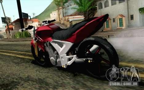 Honda Twister 250 v2 para GTA San Andreas esquerda vista