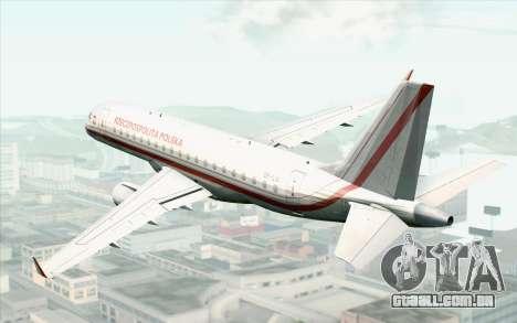 Embraer EMB-175 Republic Of Poland para GTA San Andreas esquerda vista