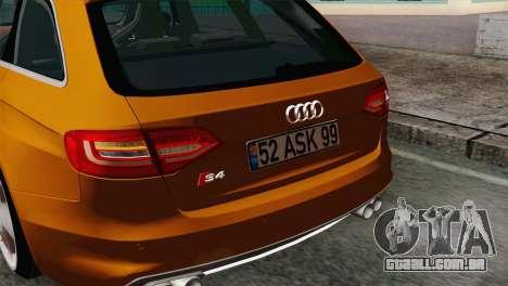 Audi S4 Avant 2013 para GTA San Andreas vista direita