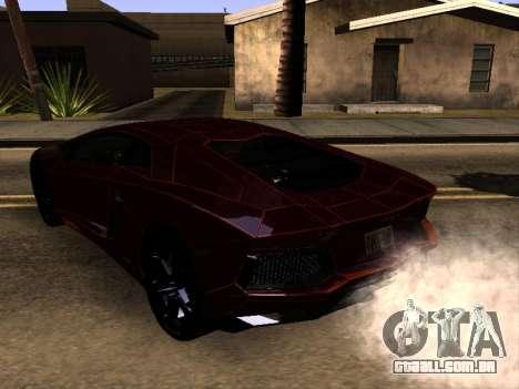 Lamborghini Aventador Tron para GTA San Andreas traseira esquerda vista