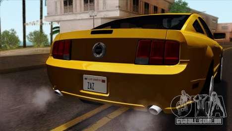 Ford Mustang GT Wheels 1 para GTA San Andreas vista traseira