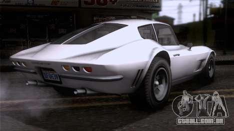 GTA 5 Invetero Coquette Classic HT SA Mobile para GTA San Andreas esquerda vista