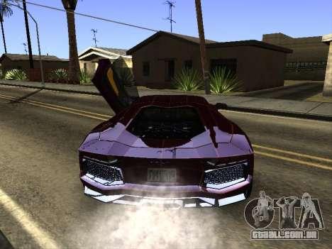Lamborghini Aventador Tron para GTA San Andreas vista direita