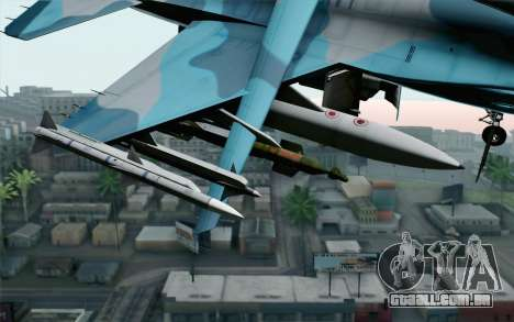 F-16C Fighting Falcon NSAWC Blue para GTA San Andreas vista direita