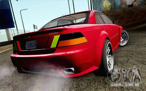 GTA 5 Ubermacht Sentinel Coupe IVF para GTA San Andreas esquerda vista