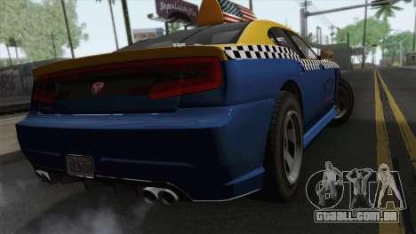 GTA 5 Bravado Buffalo S Downtown Cab Co. para GTA San Andreas esquerda vista