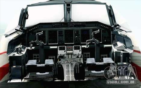 Embraer EMB-175 Republic Of Poland para GTA San Andreas vista traseira