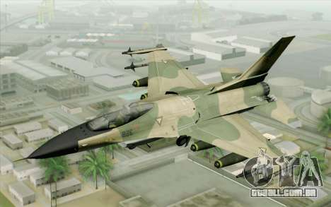 F-16 Fighter-Bomber Green-Brown Camo para GTA San Andreas