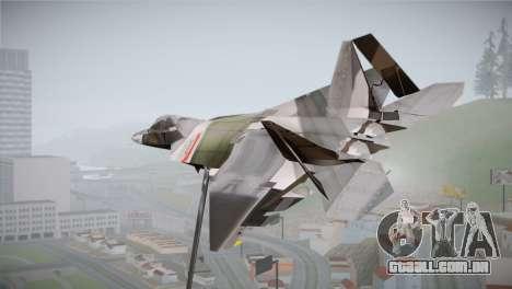 F-15 JASDF 50th Anniversary para GTA San Andreas esquerda vista