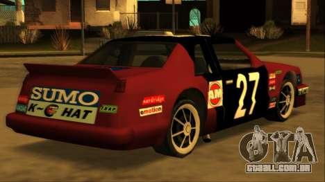 Beta Hotring Racer para GTA San Andreas vista inferior