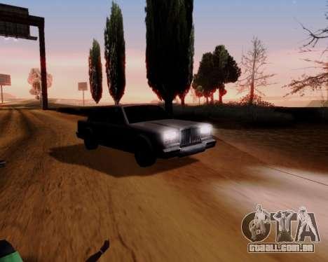 ENB Series for Low PC para GTA San Andreas por diante tela