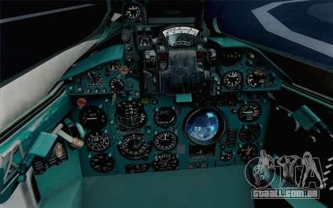 MIG-21 Fishbed C Vietnam Air Force para GTA San Andreas vista traseira