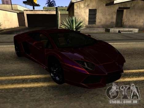 Lamborghini Aventador Tron para GTA San Andreas vista traseira