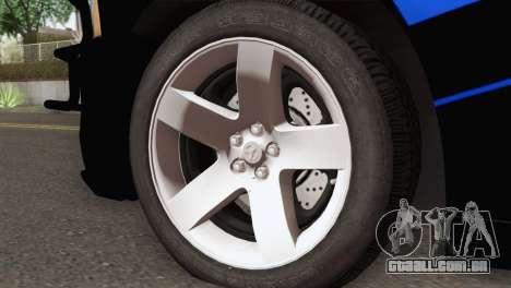 Dodge Charger 2013 LSPD para GTA San Andreas traseira esquerda vista