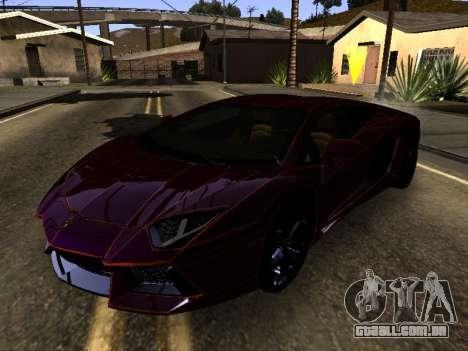Lamborghini Aventador Tron para GTA San Andreas esquerda vista
