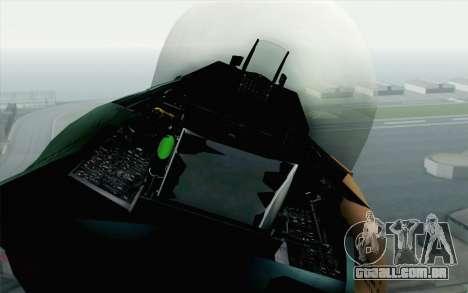 F-16C Fighting Falcon Aggressor 272 para GTA San Andreas vista traseira