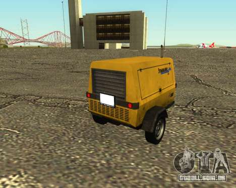 Multi Utility Trailer 3 in 1 para GTA San Andreas esquerda vista