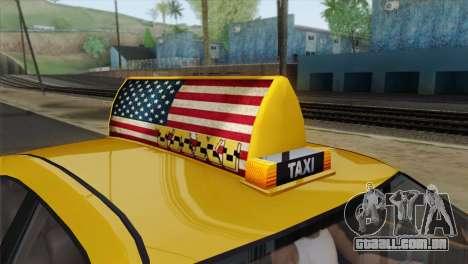 GTA 5 Bravado Buffalo S Downtown Cab Co. para GTA San Andreas vista direita