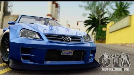 GTA 5 Benefactor Feltzer IVF para GTA San Andreas traseira esquerda vista