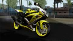 Suzuki GSX-R 2015 Yellow & White para GTA San Andreas