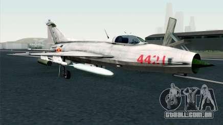 MIG-21 Fishbed C Vietnam Air Force para GTA San Andreas