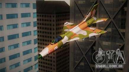 MIG 21 Russian Camo Force para GTA San Andreas