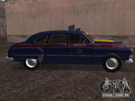 GÁS -12 ZIM Soviético milícia para GTA San Andreas esquerda vista