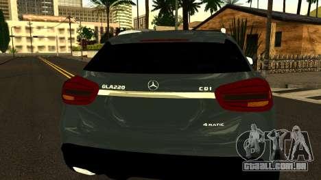 Mercedes-Benz GLA220 2014 para vista lateral GTA San Andreas