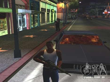 Sangue nos vidros do carro para GTA San Andreas