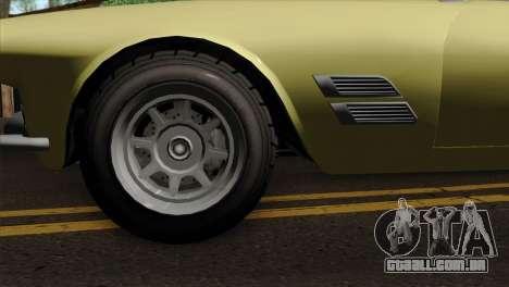 GTA 5 Lampadati Casco para GTA San Andreas traseira esquerda vista