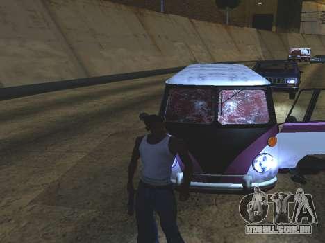 Sangue nos vidros do carro para GTA San Andreas terceira tela