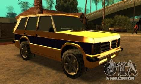 Luni Huntley para GTA San Andreas traseira esquerda vista