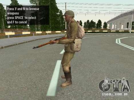 Os soldados do exército vermelho no capacete para GTA San Andreas oitavo tela