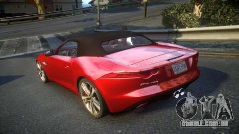 Jaguar F-Type v1.6 Release [EPM] para GTA 4 traseira esquerda vista