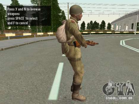 Os soldados do exército vermelho no capacete para GTA San Andreas sétima tela
