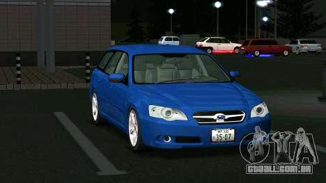 Subaru Legacy Touring Wagon 2003 para GTA San Andreas esquerda vista