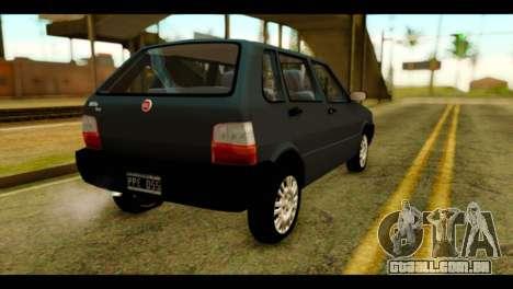 Fiat Uno Fire Mille para GTA San Andreas esquerda vista