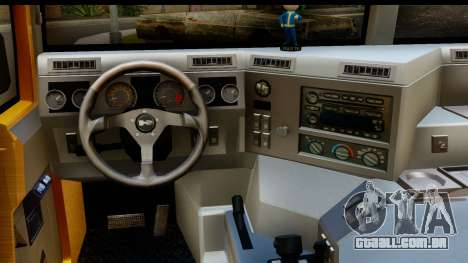 Hummer H1 6-Wheel para GTA San Andreas vista interior