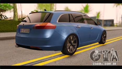 Opel Insignia Wagon para GTA San Andreas esquerda vista