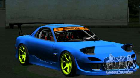 Mazda RX-7 FD3S Vertex para GTA San Andreas esquerda vista