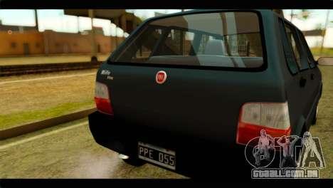 Fiat Uno Fire Mille para GTA San Andreas vista direita